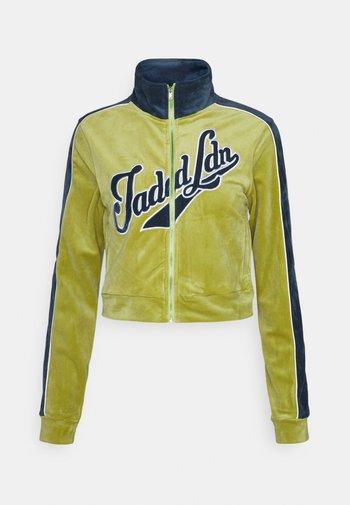 ZIP THROUGH RACKSUIT - Zip-up hoodie - green/blue