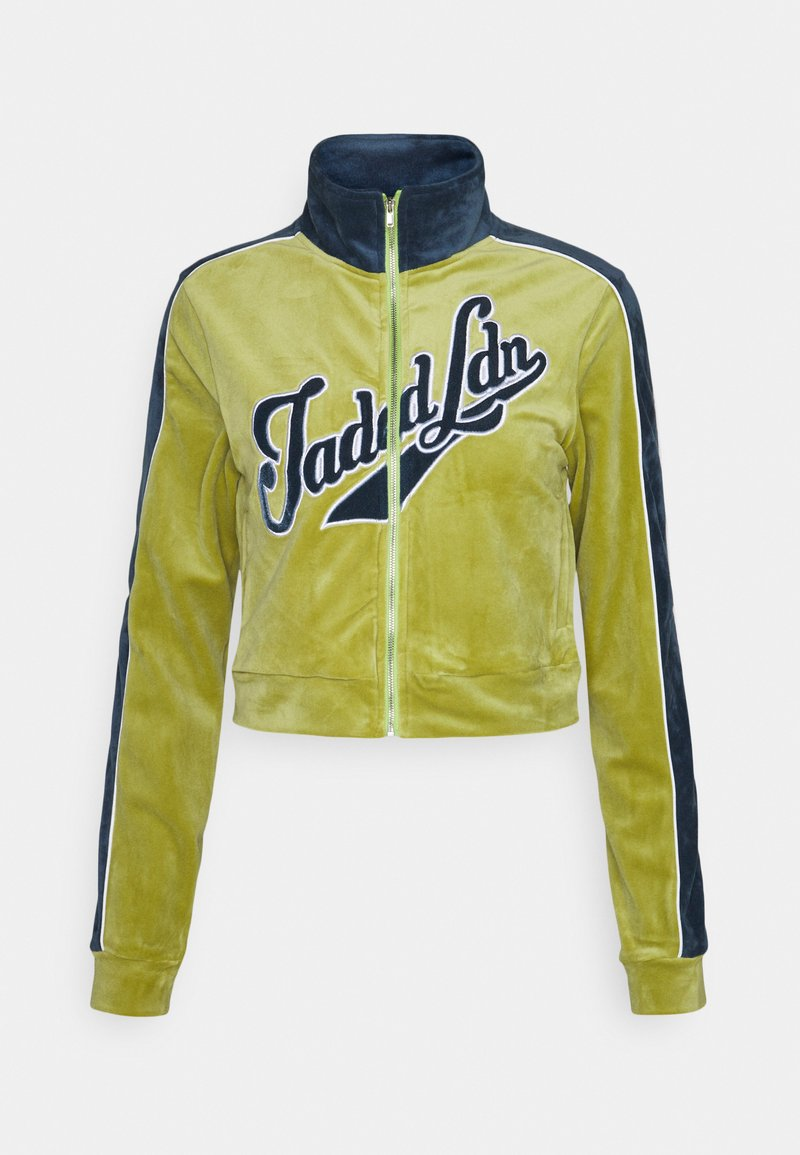 Jaded London - Zip-up sweatshirt - green/blue