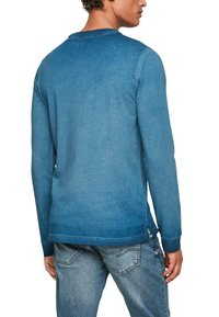 QS by s.Oliver - MIT RELIEFDRUCK - Long sleeved top - blue - 5