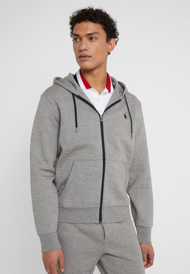 DOUBLE TECH - Zip-up hoodie - battalion heather