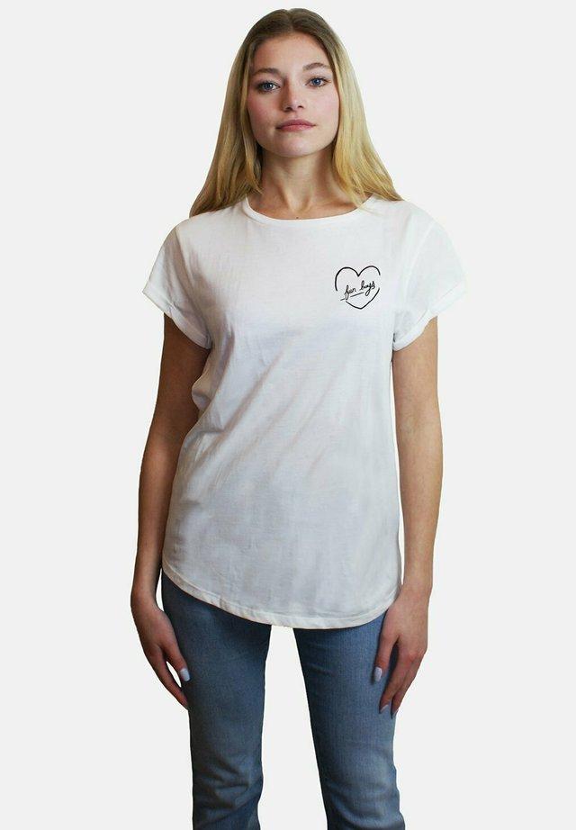 FUNBOYS SMALL WTSRU - T-shirt med print - white