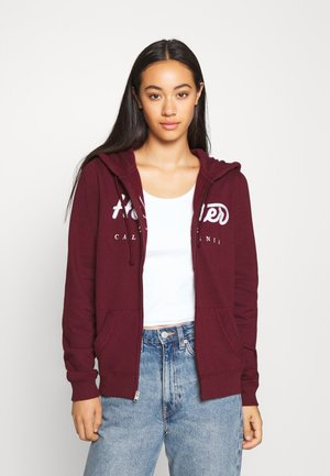 veste en sweat zippée - burgundy