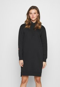 G-Star - GRAPHIC TEXT BF HOODED - Jumper dress - black - 0