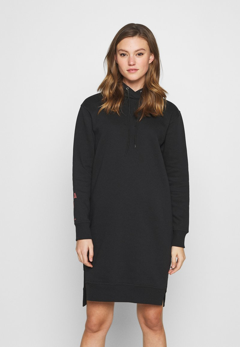 G-Star - GRAPHIC TEXT BF HOODED - Jumper dress - black