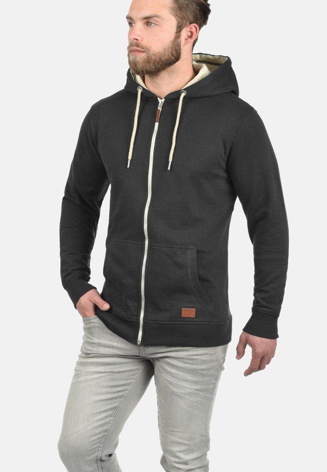 HULKER - veste en sweat zippée - black