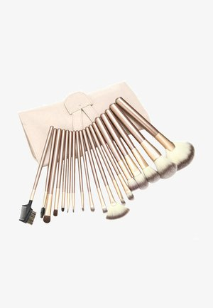 24 PIECE PROFESSIONAL MAKE-UP BRUSH SET - Makeup brush set - beige