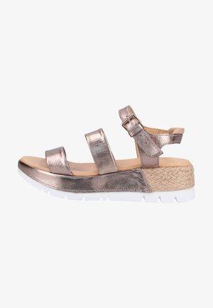 Platform sandals - bronze 88pa