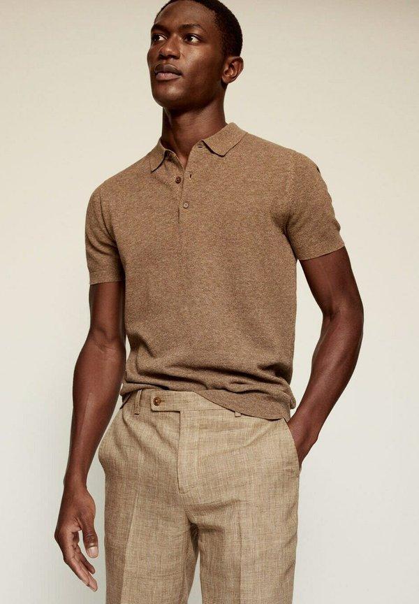 Mango MIAMI - Spodnie garniturowe - beige/beżowy Odzież Męska SXXF