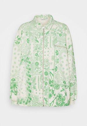 KAFFE ZIP - Zip-up hoodie - green mix