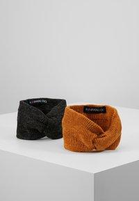 Even&Odd - 2 PACK - Ear warmers - mustard/black - 0