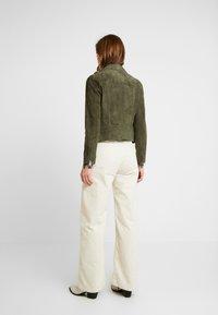AllSaints - DALBY BIKER - Skinnjakke - emerald green - 2