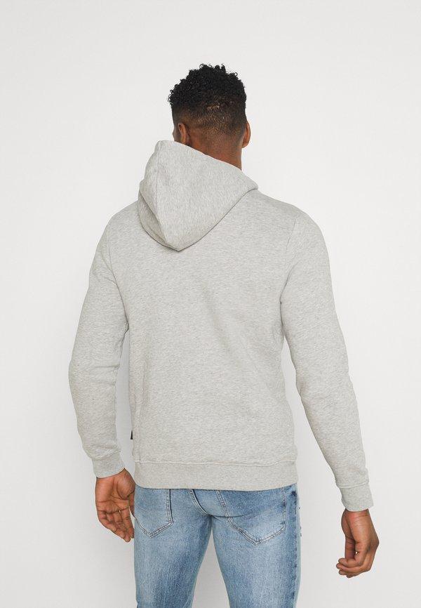 Redefined Rebel JONAS - Bluza z kapturem - light grey melange/jasnoszary Odzież Męska AFGQ