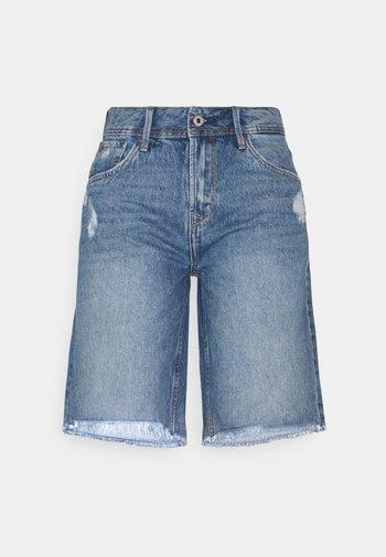 VIOLET BERMUDA - Shorts di jeans - blue denim