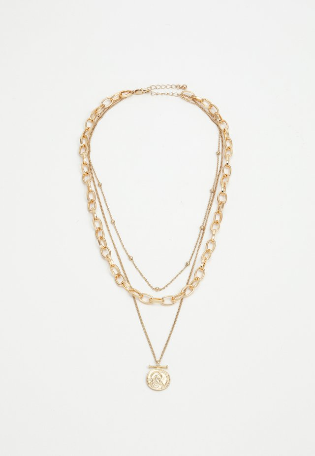 PCKETHIA COMBI NECKLACE - Necklace - gold-coloured