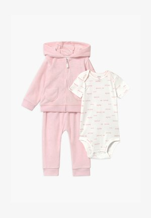 SET - Mikina na zip - pink