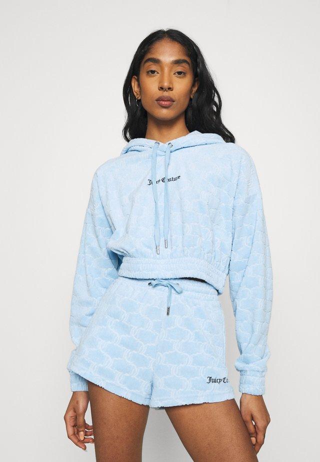 TOWELLING TEAGAN HOODIE - Sweatshirt - powder blue