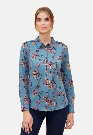 MANDALA - Button-down blouse - blue