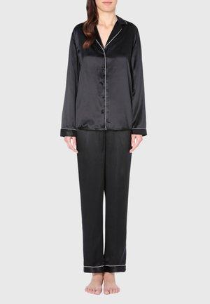 JACKE IM HERRENSCHNITT AUS SATIN UND SEIDE - Pyjama top - black