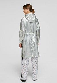 KARL LAGERFELD - Waterproof jacket - silver - 2