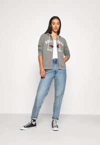 Hollister Co. - TERRY TECH CORE - Mikina na zip - grey - 1