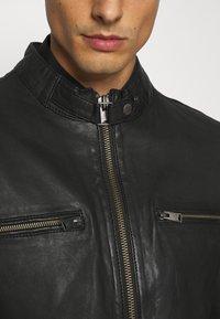 Lindbergh - LEATHER JACKET - Leather jacket - black - 5