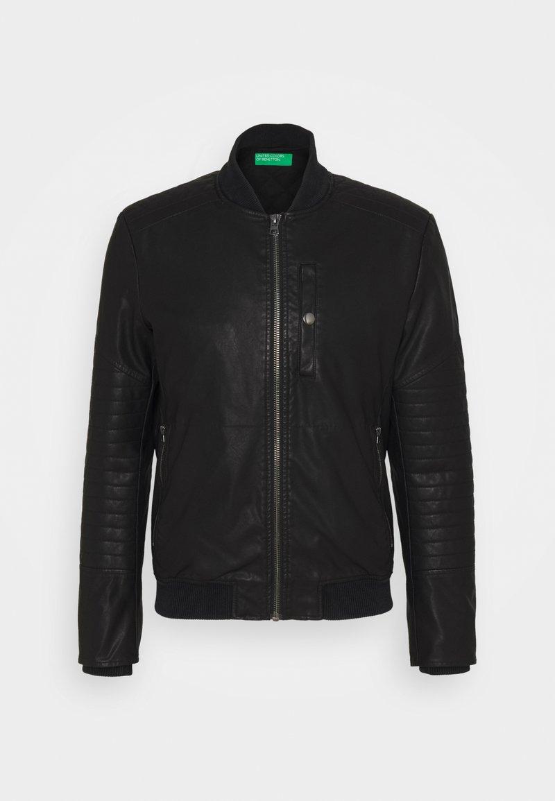 Benetton - Giacca in similpelle - black