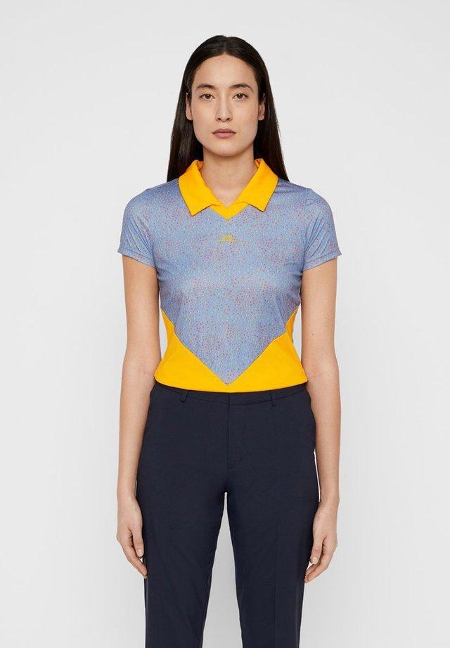 BIRGIT-TX JERSEY - Poloshirt - lake blue dot