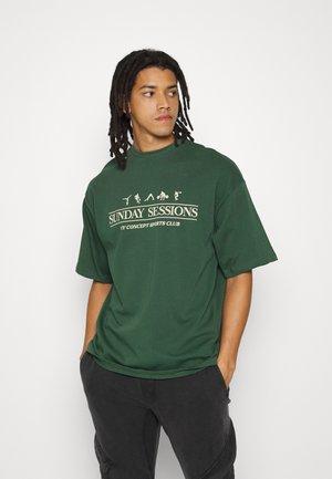 SESSIONS UNISEX - T-shirt print - dark green