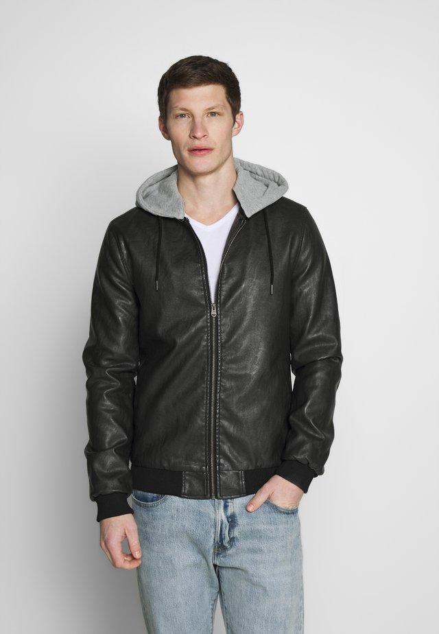 PHOENIX - Faux leather jacket - black