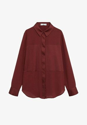 BIMA - Button-down blouse - bordeaux