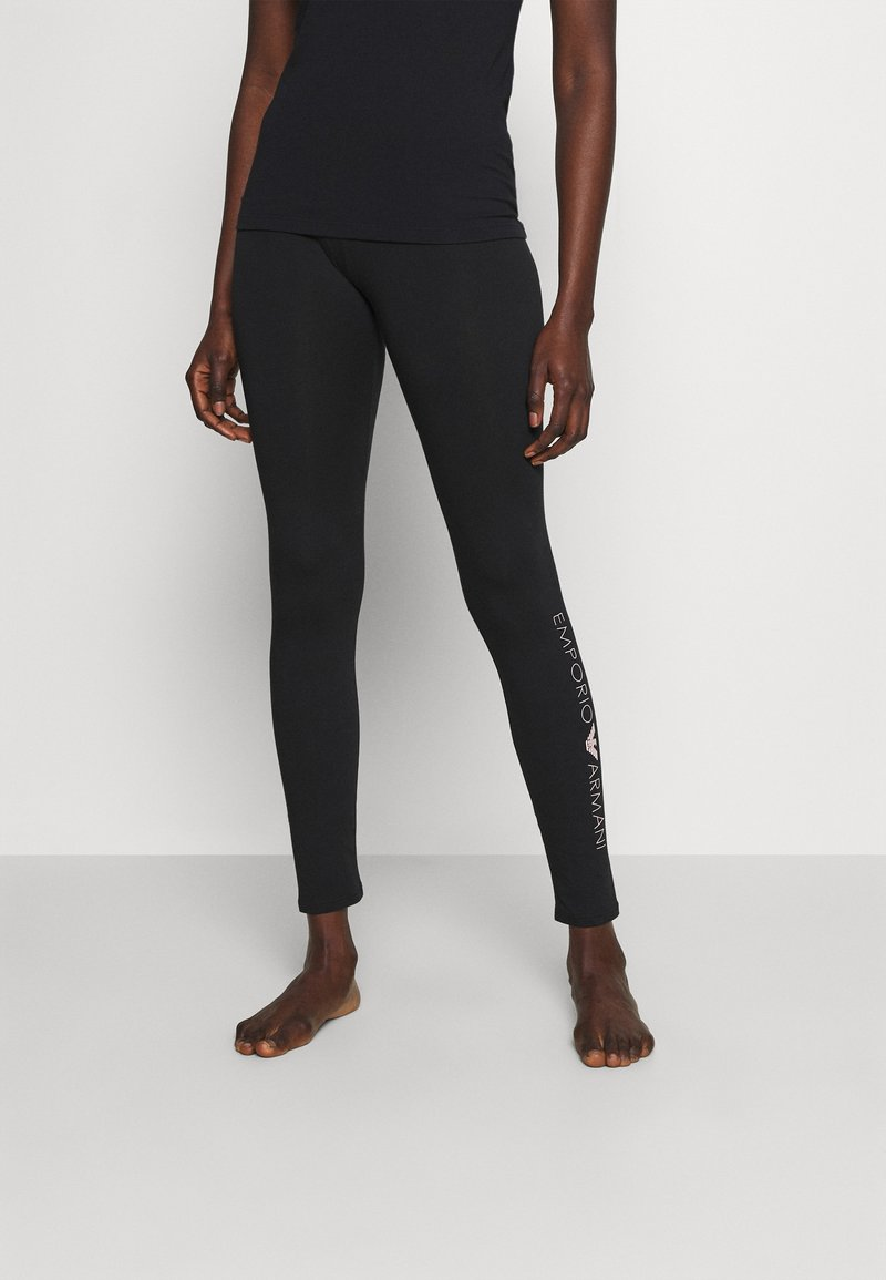 Emporio Armani - LEGGINGS - Pyjama bottoms - nero black