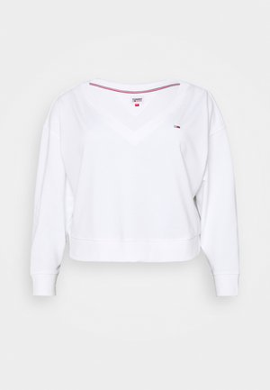 SOFT V NECK - Sweatshirt - white