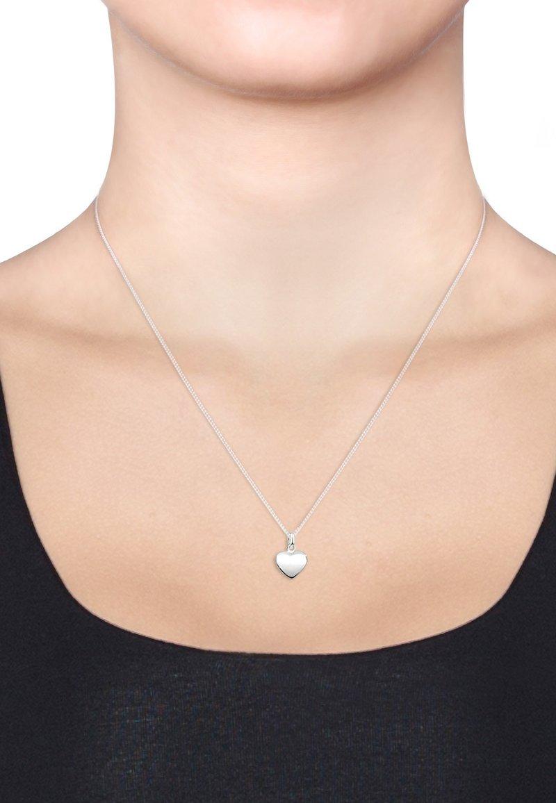 Elli - HEART FILIGREE - Necklace - silver-coloured