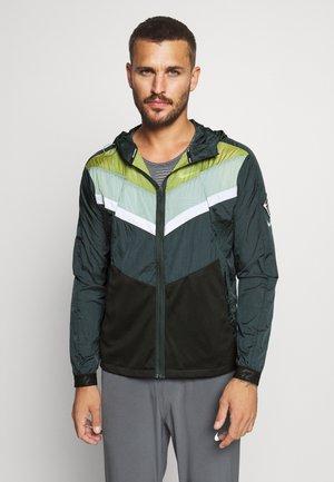Sports jacket - seaweed/asparagus/reflective silver