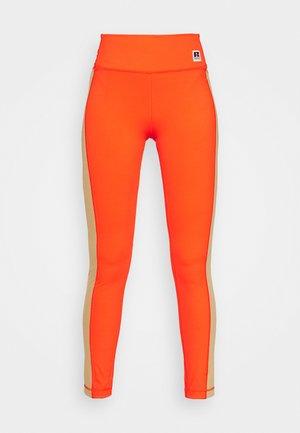 Boss x Russell Athletic COLOUR BLOCK - Leggings - Trousers - orange