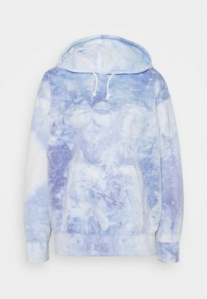 HOODIE - Long sleeved top - light racer blue/white