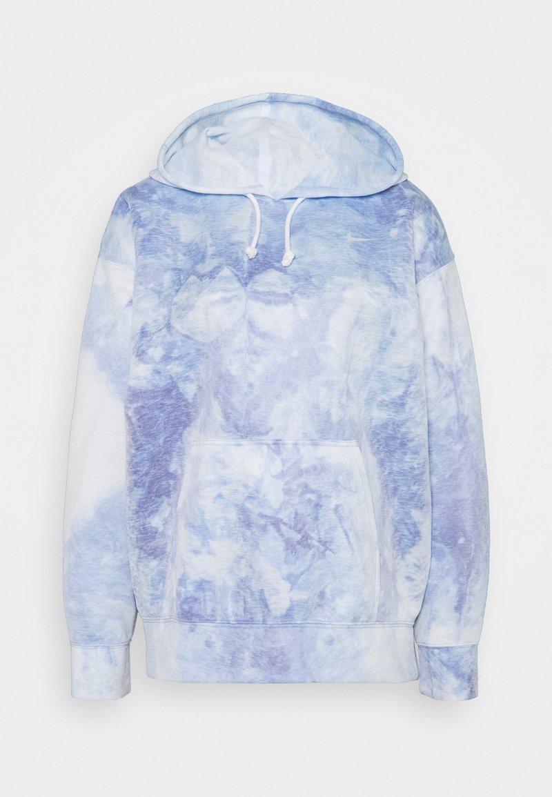 Nike Performance - HOODIE - Langærmede T-shirts - light racer blue/white