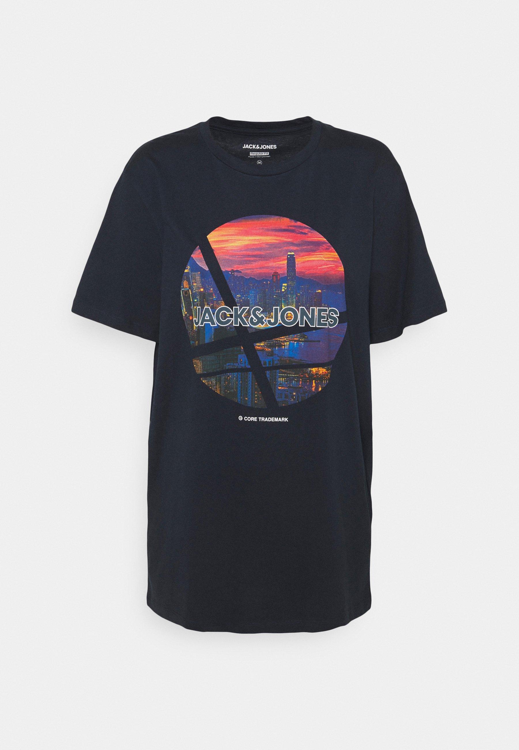 Herren JJURBAN CITY TEE CREW NECK - T-Shirt print