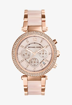 PARKER - Chronograph watch - rosegold-coloured/puder