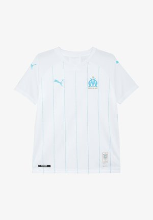 OLYMPIQUE MARSAILLE HOME REPLICA WITH SPONSOR - Club wear - white