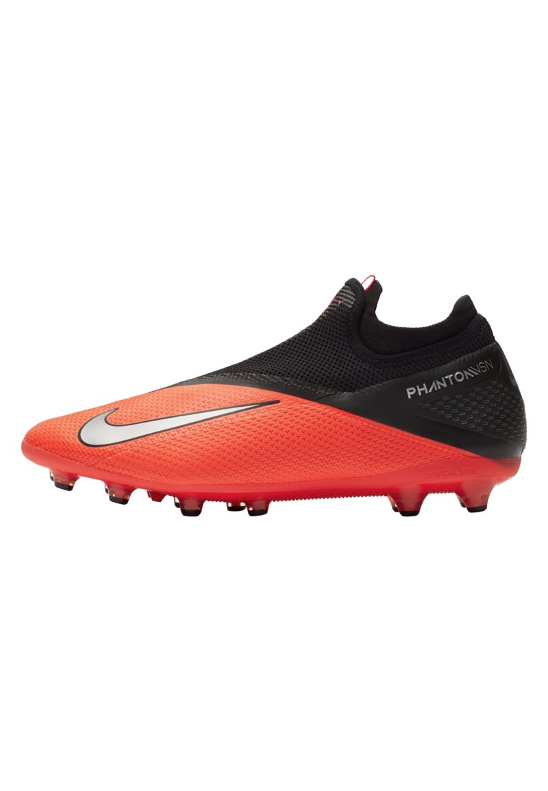 Nike Performance - PHANTOM VISION 2 PRO DF AG-PRO - Moulded stud football boots - laser crimson/black/metallic silver