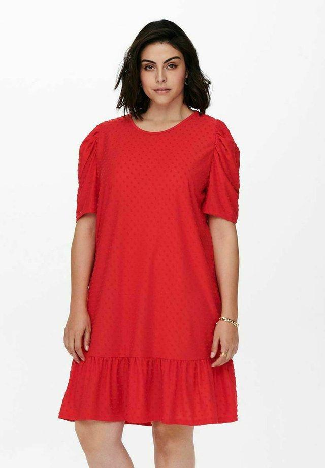 CARDIDDE PUFF KNEE DRESS - Korte jurk - high risk red