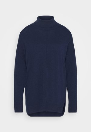 TURTLE NECK - Strikkegenser - dark blue