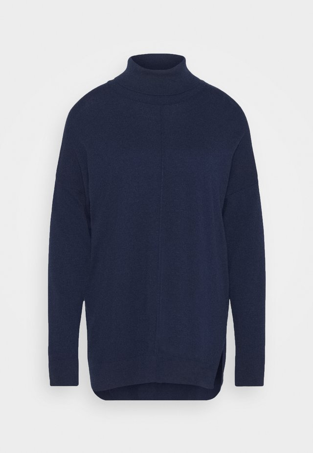 TURTLE NECK - Jumper - dark blue