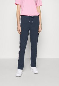 Tommy Jeans - SIDE STRIPE PANT - Trousers - twilight navy - 0