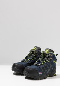 TrollKids - KIDS TROLLTUNGA MID UNISEX - Hiking shoes - navy/viper green - 3