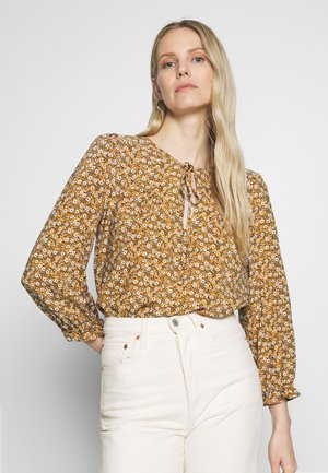 BLUSA - Bluse - yellow/off-white