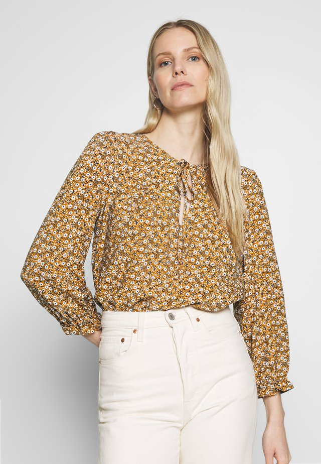 BLUSA - Blouse - yellow/off-white