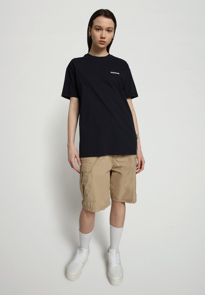 Napapijri - S-PATCH SS - T-shirt basic - blu marine