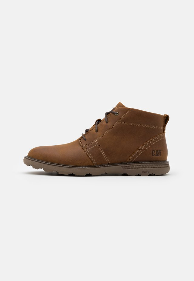 TREY - Bottines à lacets - dark beige